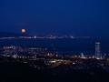 SA60 Moonrise Swansea Bay