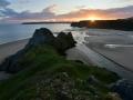 GA556 Autumn Sunset Three Cliffs