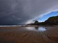 GA567 Dark Clouds Three Cliffs Bay