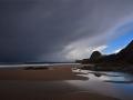 GA566 Dark Clouds Three Cliffs Bay