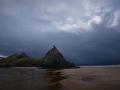GA565 Dark Clouds Three Cliffs Bay