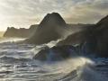 GA562 Angry Sea Three Cliffs