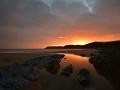 GA341 Sunset Caswell Bay