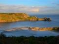 GA551 Evening Light Three Cliffs Bay